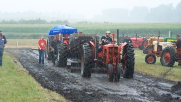 Participate in or enjoy watching the antique tractor pull!, rain or shine!